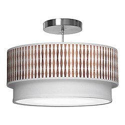 Weave 1 Double Tiered Pendant Light