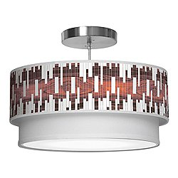 Tile 1 Double Tiered Pendant Light