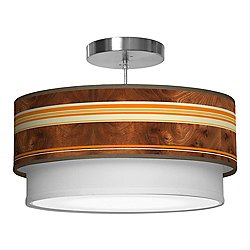 Horizontal Stripey Double Tiered Pendant Light