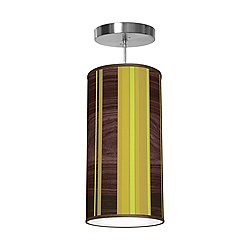 Vertical Stripey Column Pendant Light