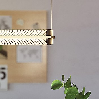Brass with Black Ends finish / Mesh