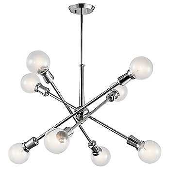 Shown in Chrome finish, 8 Light