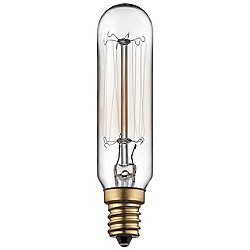 40W 120V T5 E12 Antique Candelabra Clear Bulb