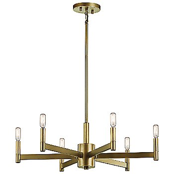 Shown in Natural Brass finish, Medium size