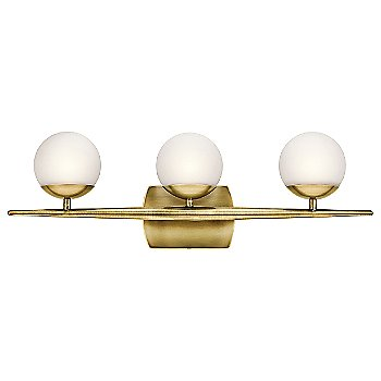 Shown in Natural Brass finish, 3 lights