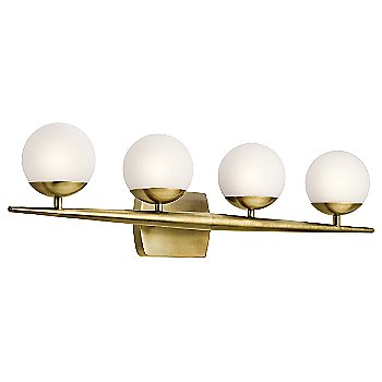 Shown in Natural Brass finish, 4 lights
