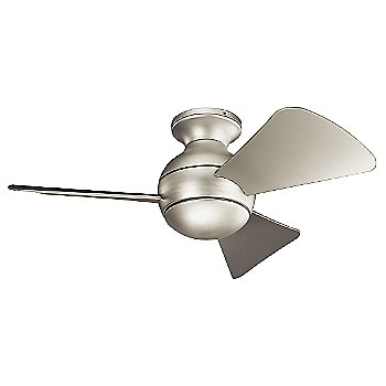 Brushed Nickel with Silver blades / 34 inch / Light cap / not illuminated