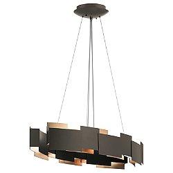 Moderne Oval LED Chandelier