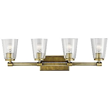 Natural Brass finish / 4 Light