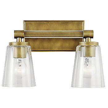Natural Brass finish / 2 Light