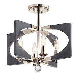 Alscar Semi-Flush Mount Ceiling Light