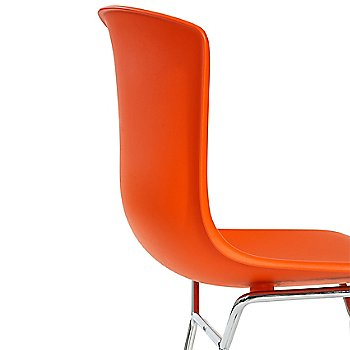 Shown in Orange Red with Polished Chrome Base Finish