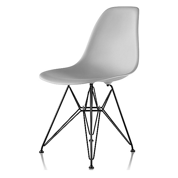 Eames Molded Plastic Side Chair - Wire Base