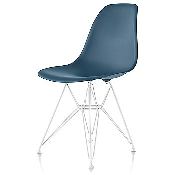 Peacock Blue seat color with Wire Base/White