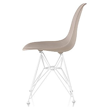 Stone seat color with Wire Base/White