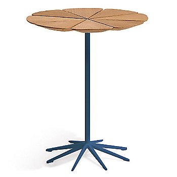 Shown in Teak top with Blue Base