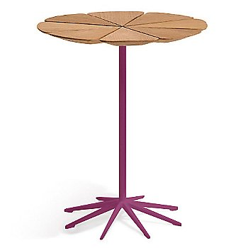 Shown in Teak top with Plum Base