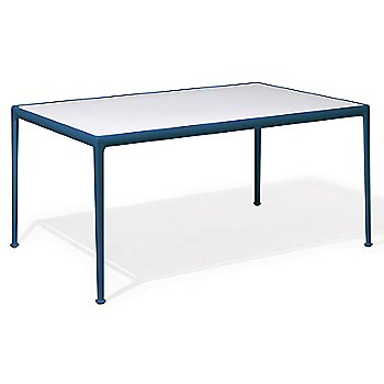 Shown in White Fiberglass with Blue frame, 38-In X 60-In