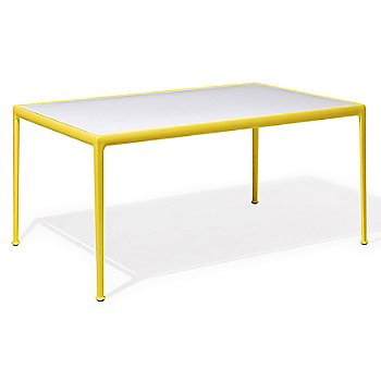 Shown in White Fiberglass with Yellow frame, 38-In X 60-In