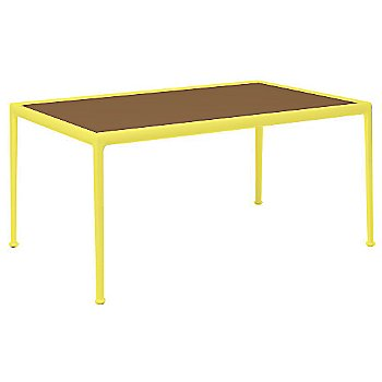 Teak Color / Yellow Frame / 38-In X 60-In Size