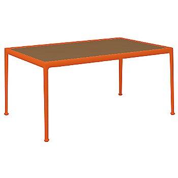 Teak Color / Orange Frame / 38-In X 60-In Size