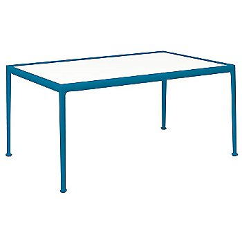 White Fiberglass Color / Blue Frame / 38-In X 60-In Size