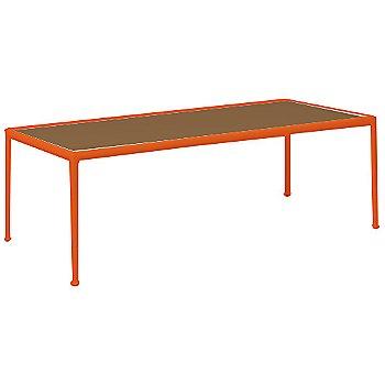 Teak Color / Orange Frame / 38-In X 90-In Size