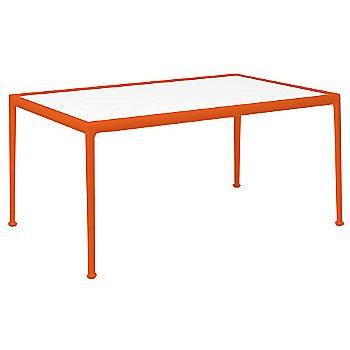 White Porcelain Color / Orange Frame / 38-In X 60-In Size