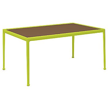 Brown Porcelain Color / Lime Green Frame / 38-In X 60-In Size