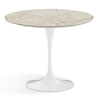 Carrara White-Grey Natural Marble Top finish with White Base / 36 Inch