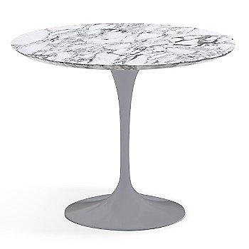 Arabescato White-Grey Satin Coated Marble finish with Platinum Base / 36 Inch