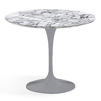 Arabescato White-Grey Shiny Coated Marble finish with Platinum Base / 36 Inch