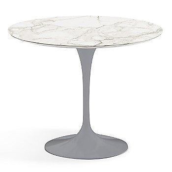 Calacatta White-Grey Beige Satin Coated Marble finish with Platinum Base / 36 Inch