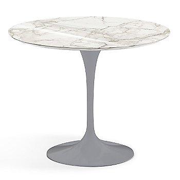 Calacatta White-Grey Beige Shiny Coated Marble finish with Platinum Base / 36 Inch
