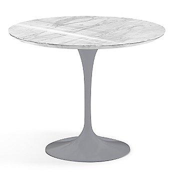 Carrara White-Grey Polished Coated Marble finish with Platinum Base / 36 Inch