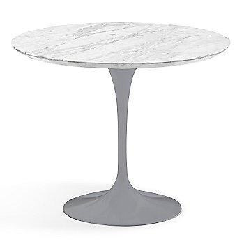 Carrara White-Grey Satin Coated Marble finish with Platinum Base / 36 Inch