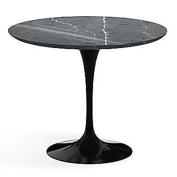 Shown in Grigio Marquina Shiny Coated Marble with Black Base, 36 Inch
