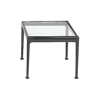 Shown in Clear Tempered Glass with Onyx frame finish, 18 in x 18 in