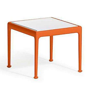 Shown in White Porcelain with Orange frame finish, 18 in x 18 in