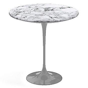 Arabescato White-Grey Satin Coated Marble, Platinum base finish, 20-Inch