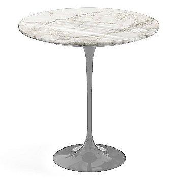 Calacatta White-Grey-Beige Shiny Coated Marble, Platinum base finish, 20-Inch