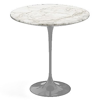 Calacatta White-Grey-Beige Satin Coated Marble, Platinum base finish, 20-Inch