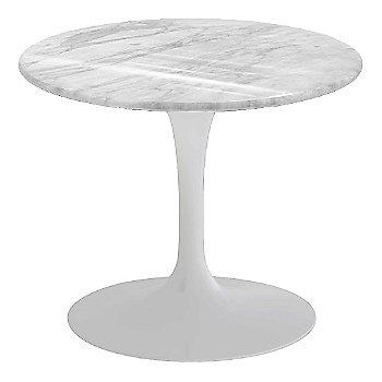 Carrara White-Grey Natural Marble, White base finish, 20-Inch Low