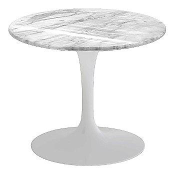 Carrara White-Grey Polished Coated Marble, White base finish, 20-Inch Low