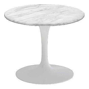 Carrara White-Grey Satin Coated Marble, White base finish, 20-Inch Low