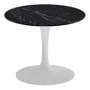 Nero Marquina Black Shiny Coated Marble, White base finish, 20-Inch Low