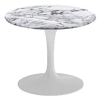 Arabescato White-Grey Shiny Coated Marble, White base finish, 20-Inch Low