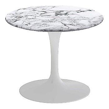 Arabescato White-Grey Satin Coated Marble, White base finish, 20-Inch Low