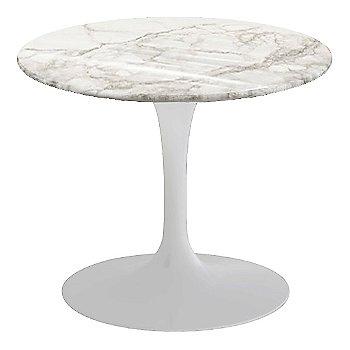 Calacatta White-Grey-Beige Shiny Coated Marble, White base finish, 20-Inch Low