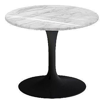 Carrara White-Grey Natural Marble, Black base finish, 20-Inch Low